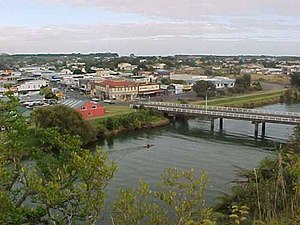 Waitara, New Zealand - Waitara and the Waitara River.