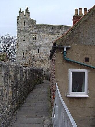 York city walls - Wall-walk leading to Monk Bar.