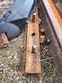 Wallace, NC June 2013, Bent rail with Automotive parts strewn around, like crash. - panoramio.jpg
