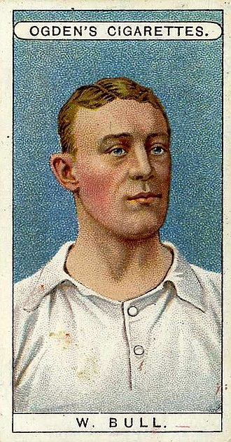 Cigarette card - English footballer Walter Bull depicted on a Ogden's card, c. 1906