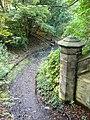 Warriston Cemetery path from old railway bridge - geograph.org.uk - 1538526.jpg