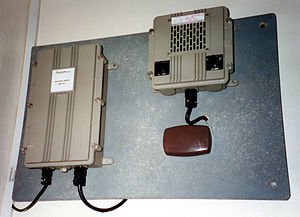 United Kingdom Warning and Monitoring Organisation - WB1401 warning receiver in a former local authority control centre
