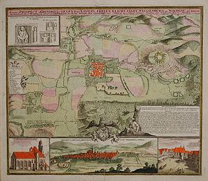 Weißenburg in Bayern - Illustrated map of Weißenburg, c. 1725