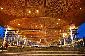 Devolution in the United Kingdom - The Senedd, home to the National Assembly for Wales