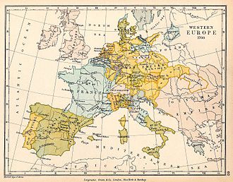 Core countries - A map of Western Europe