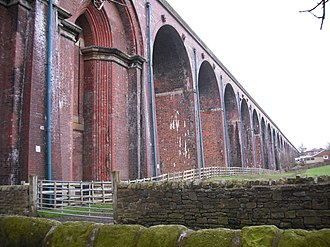 Whalley, Lancashire - Whalley Arches, east side, from the road