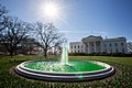 White House North fountains turned green 2016.jpg