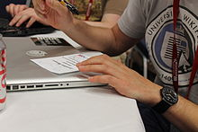 Wikimania 2012 - Rock drum 4.JPG