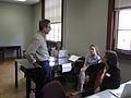 Wikipedia help desk at the UNC edit-a-thon, April 2013.jpg