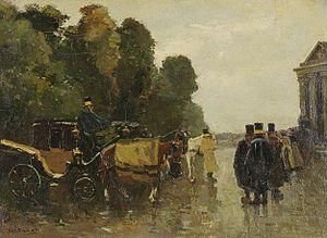 Willem de Zwart - Carriages with Waiting Coachmen