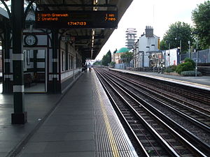 Willesden Green tube station - Image: Willesden Green stn eastbound look west