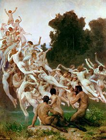 The Oreads,  William-Adolphe Bouguereau,1902