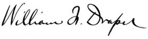 William Franklin Draper (politician) - Image: William Franklin Draper 1842 1910) signature