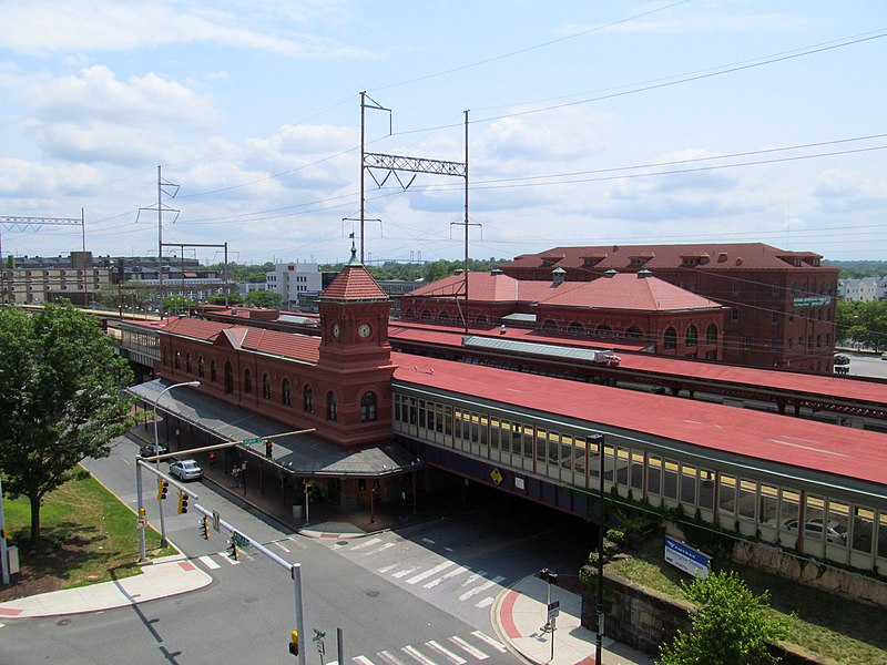 File:Wilmington Station from parking garage, July 2014.JPG