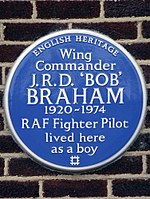 Wing Commander J.R.D. 'BOB' BRAHAM 1920-1974 RAF Fighter Pilot lived here as a boy.jpg