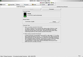 WinMX - Image: Winmxscreenshot