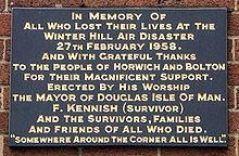 Winter Hill Air Disaster Wikipedia