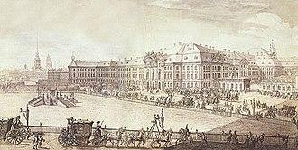 Francesco Bartolomeo Rastrelli - Image: Winter palace 1740s