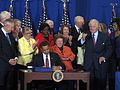 With President Obama signing legislation launching a new era of public service (3463212895).jpg