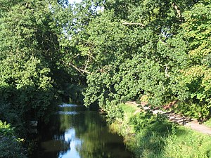 Basingstoke Canal - The Basingstoke Canal passing through Woking
