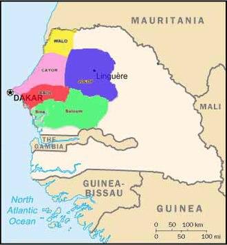 Sahelian kingdoms - Image: Wolof Empire