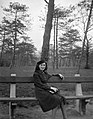 Woman, portrait, bench Fortepan 19627.jpg