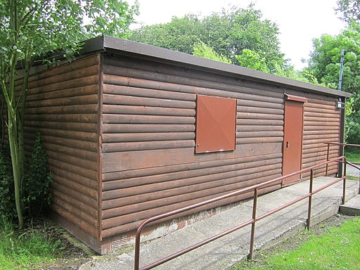 Wooden cabin at Rivacre Valley Country Park