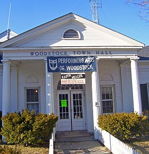 Woodstock, New York - Town hall on NY 212