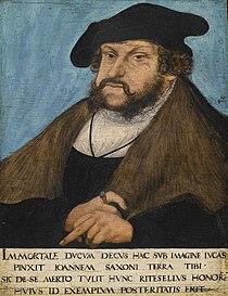 Workshop of Lucas Cranach the Elder Portrait of John the Steadfast, Elector of Saxony.jpg