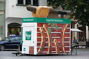 Thuringian sausage - Bratwurst Imbiss (fast food stand) in Weimar