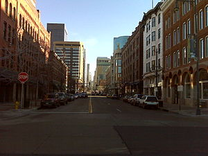 Downtown Denver - Looking down 17th Street