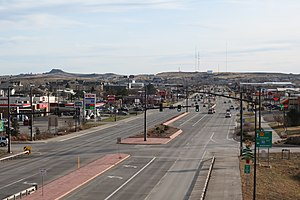 Gillette, Wyoming - Wyoming Highway 59 seen from Interstate 90 in Gillette