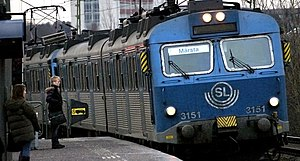 Stockholm commuter rail - An X10 train towards Märsta