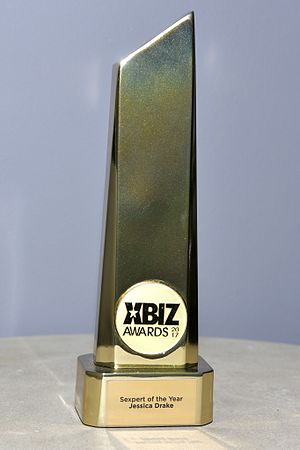 XBIZ Award - The XBIZ Award trophy