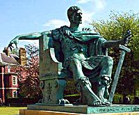 Bronze statue of Constantine I in York, England,  near the spot where he was proclaimed Emperor in 306