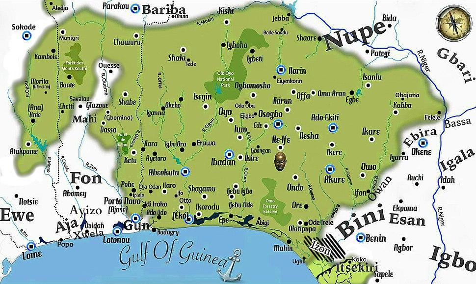 Yorubaland Cultural Area of West Africa