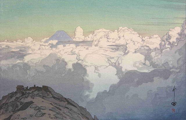 「日本南アルプス集 駒ケ岳山頂より」 1928年(昭和3年)