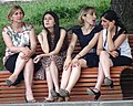 Young Women in Park - Telavi - Georgia (18387972945).jpg