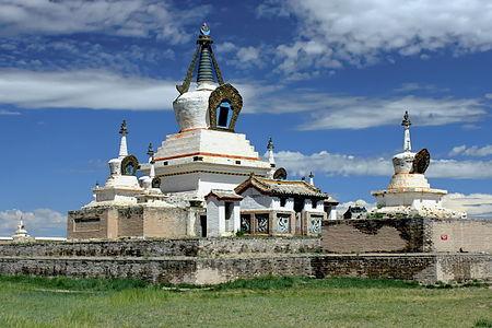 Golden Stupa in the Erdene Zuu Monastery. Kharkhorin, Övörkhangai Province, Mongolia.