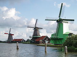 Windmills at the Zaanse Schans in 2007