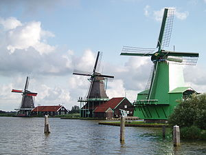 Zaandam - Windmills at the Zaanse Schans in 2007