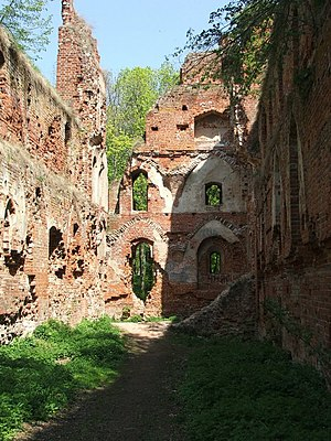 Balga - Balga castle ruins in 2006