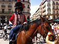 Zaragoza - Turistas y Figurantes vestidos de soldados de la Guerra de la Independencia 09.jpg