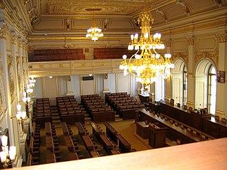 Chamber of Deputies of the Czech Republic - Image: Zasedací sál Poslanecké sněmovny