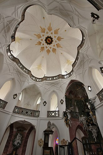 Pilgrimage Church of Saint John of Nepomuk - Look up vertical