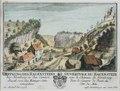 Zentralbibliothek Solothurn - OEFFNUNG DES HAUENSTEINS BEY Homburg in den Canton Basel von der MittagsSeite anzusehen Wappen Burckhardt OUVERTURE DU HAUENSTEIN sous le Château de Basle du Côté du Mite - a0214.tif