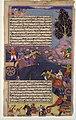 """Arjuna Battles Raja Tamradhvaja"", Folio from a Razmnama MET DP104237.jpg"