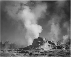"""Castle Geyser Cove, Yellowstone National Park,"" Wyoming, 1933 - 1942 - NARA - 519992.tif"