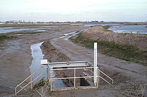Wallasea Wetlands - Wallasea Wetlands relocated seawall in 2007, shortly after the initial stage of the scheme was finished
