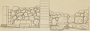 Adolf Bötticher - Pelasgic wall, illustration from Die Akropolis von Athen (1888).